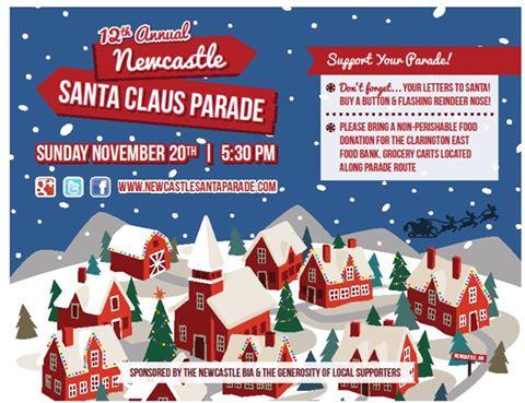 Newcastle Santa Parade on Sunday November 20th at 5:30 pm!