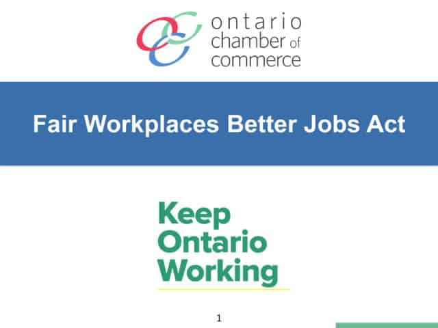 Fair Workplaces Better Jobs Act