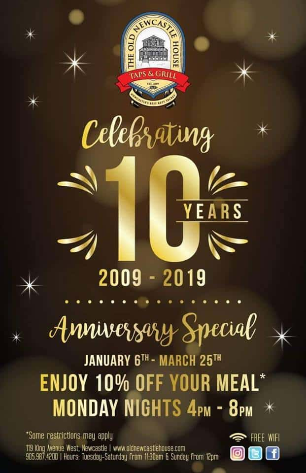 Celebrating 10 years for The Old Newcastle House