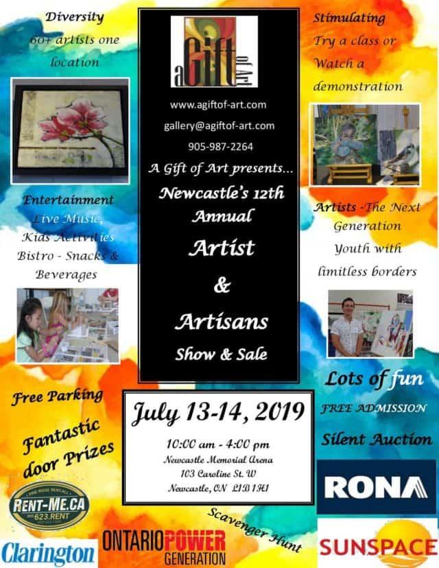Newcastle's 12th Annual Artist & Artisans Show & Sale