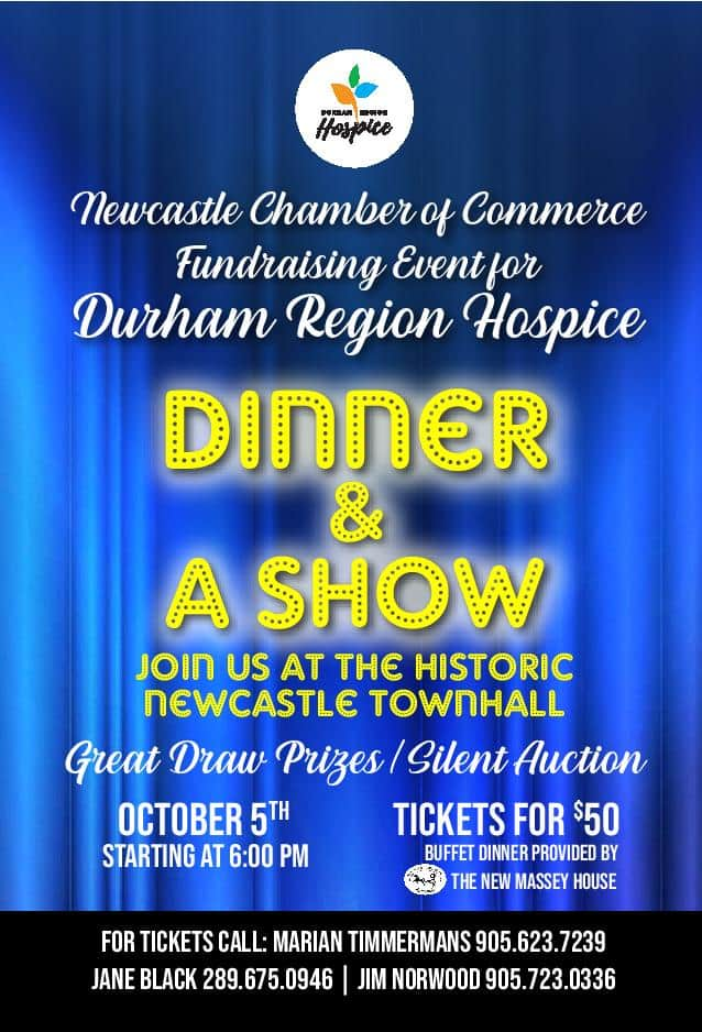 Fundraising Event for Durham Region Hospice – Dinner & A Show